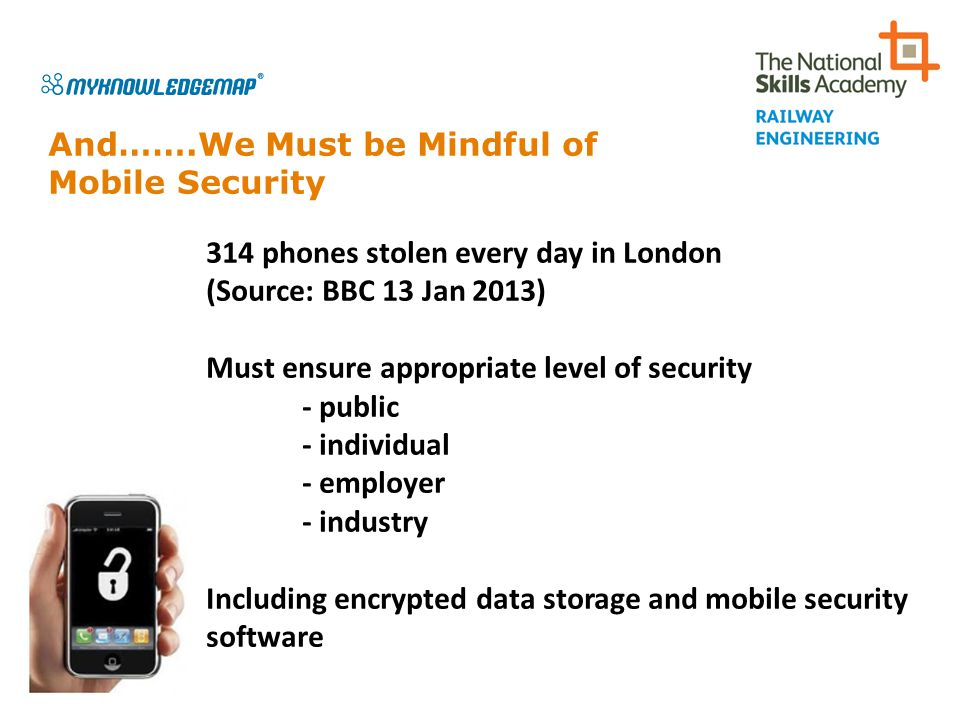And…….We Must be Mindful of Mobile Security