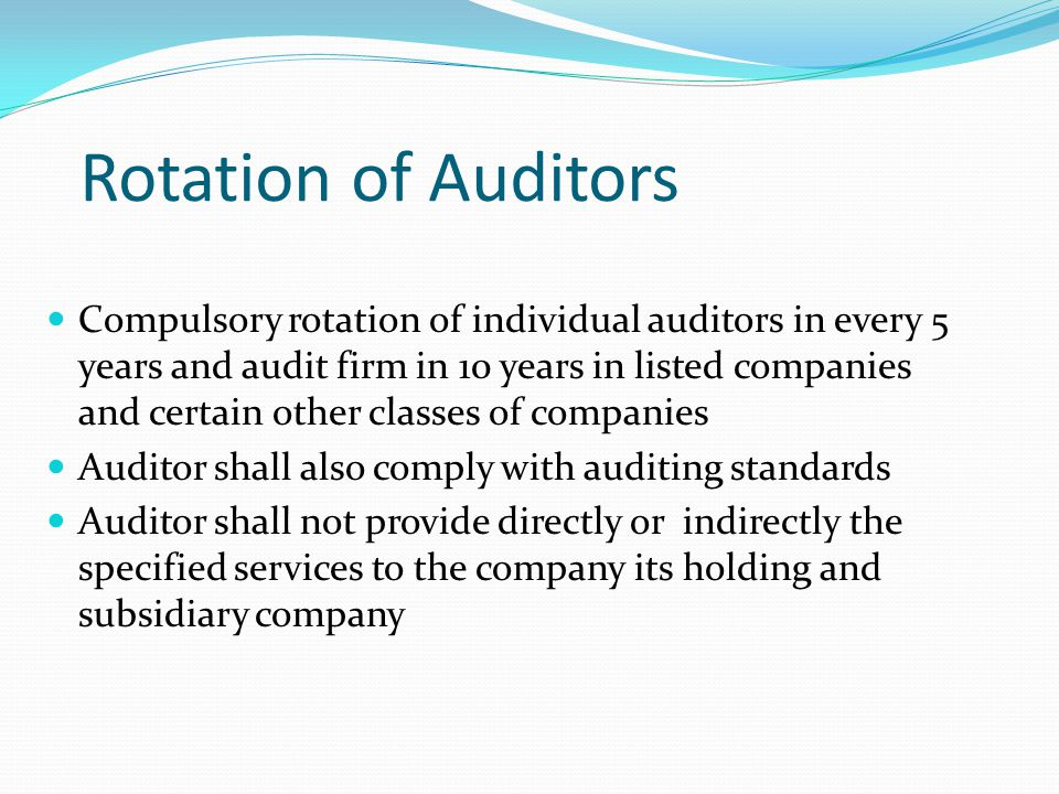 Rotation of Auditors