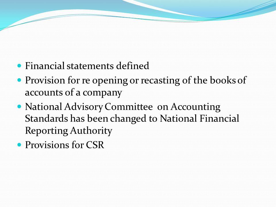 Financial statements defined