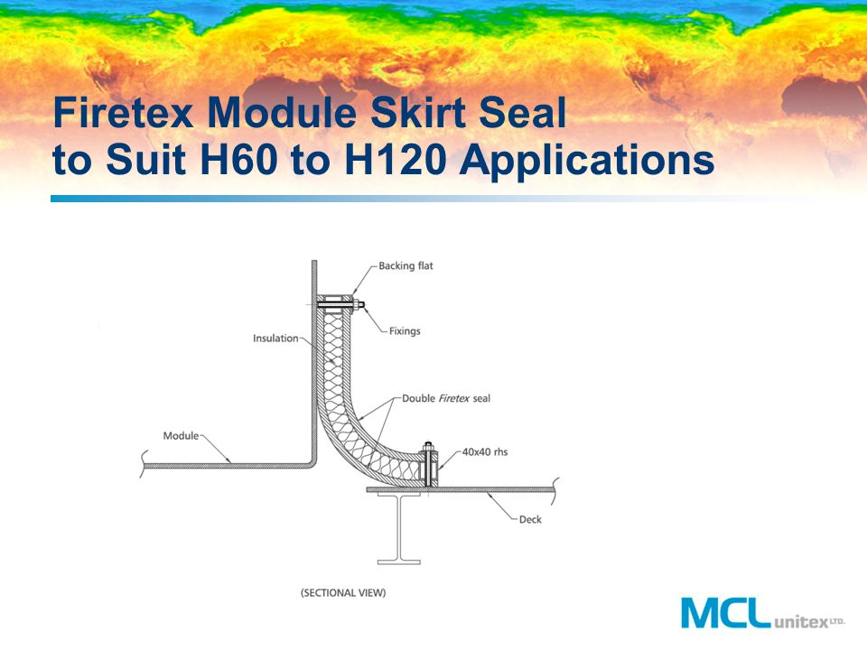 Firetex Module Skirt Seal to Suit H60 to H120 Applications