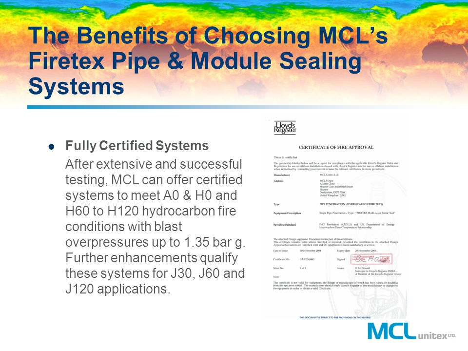 The Benefits of Choosing MCL's Firetex Pipe & Module Sealing Systems