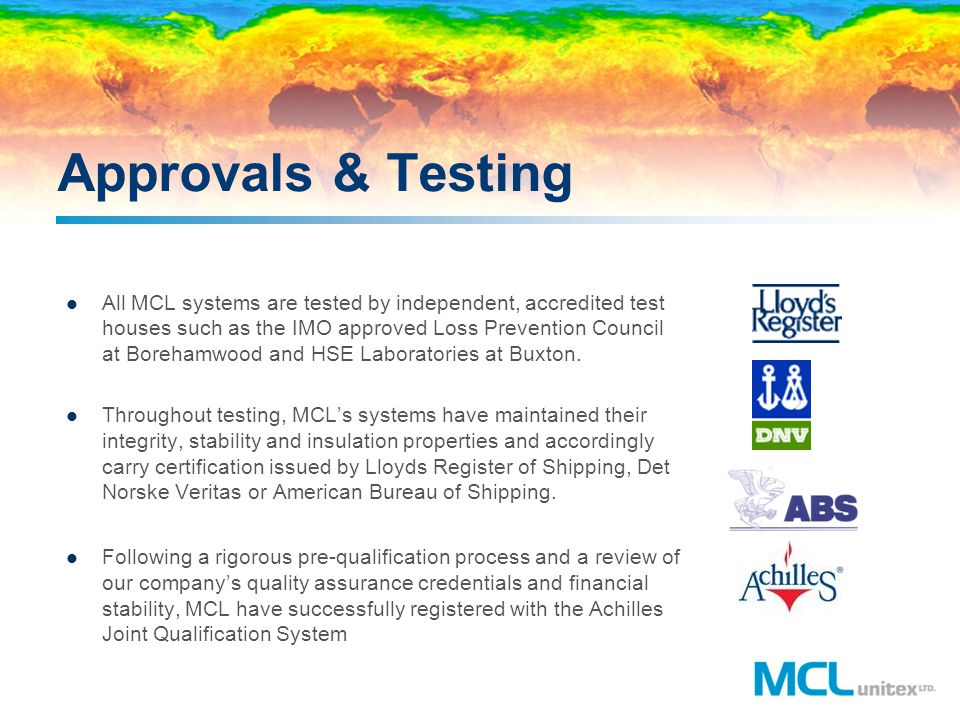 Approvals & Testing