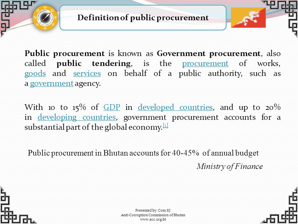 Definition of public procurement