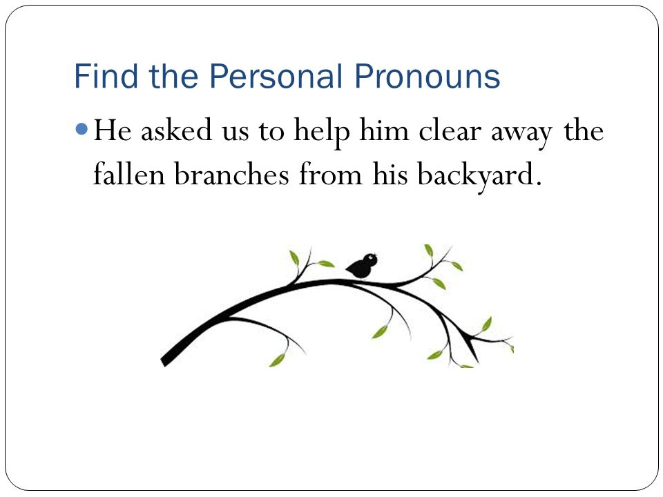 Find the Personal Pronouns