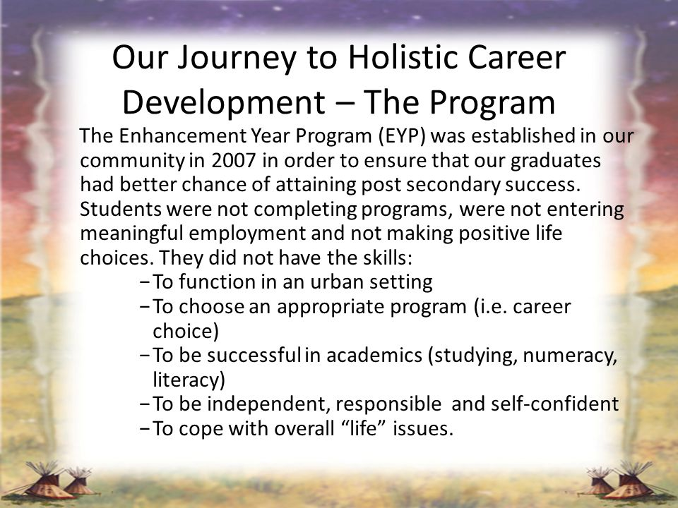 Our Journey to Holistic Career Development – The Program
