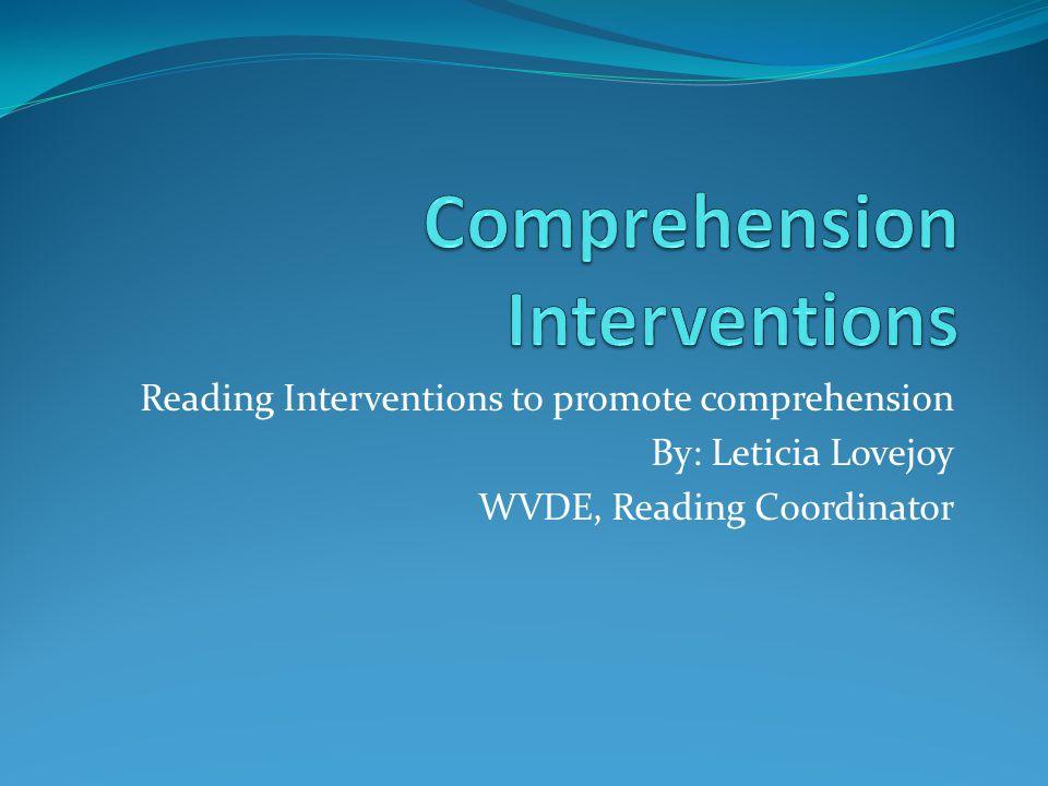 Comprehension Interventions