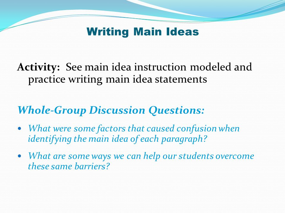 Whole-Group Discussion Questions: