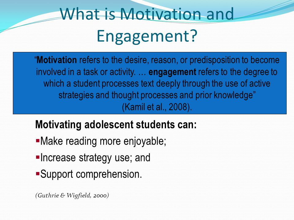 What is Motivation and Engagement