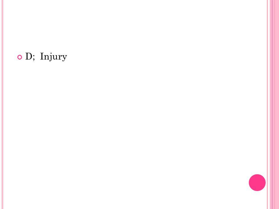D; Injury