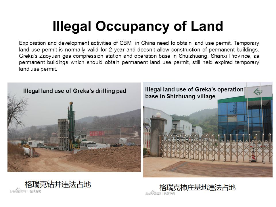 Illegal Occupancy of Land