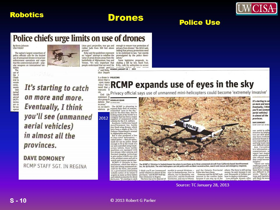 Drones Police Use Source USA Today September 7, 2012