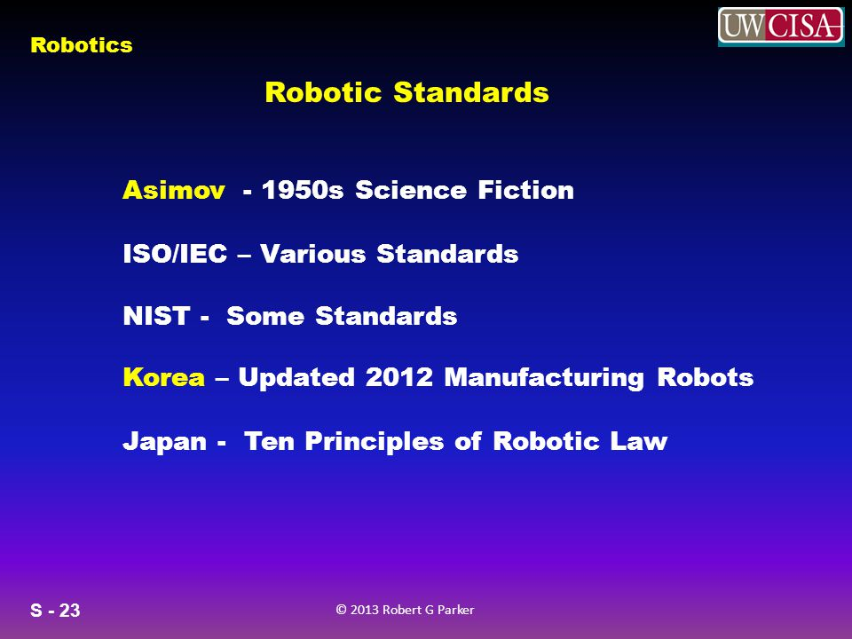 Robotic Standards Asimov - 1950s Science Fiction