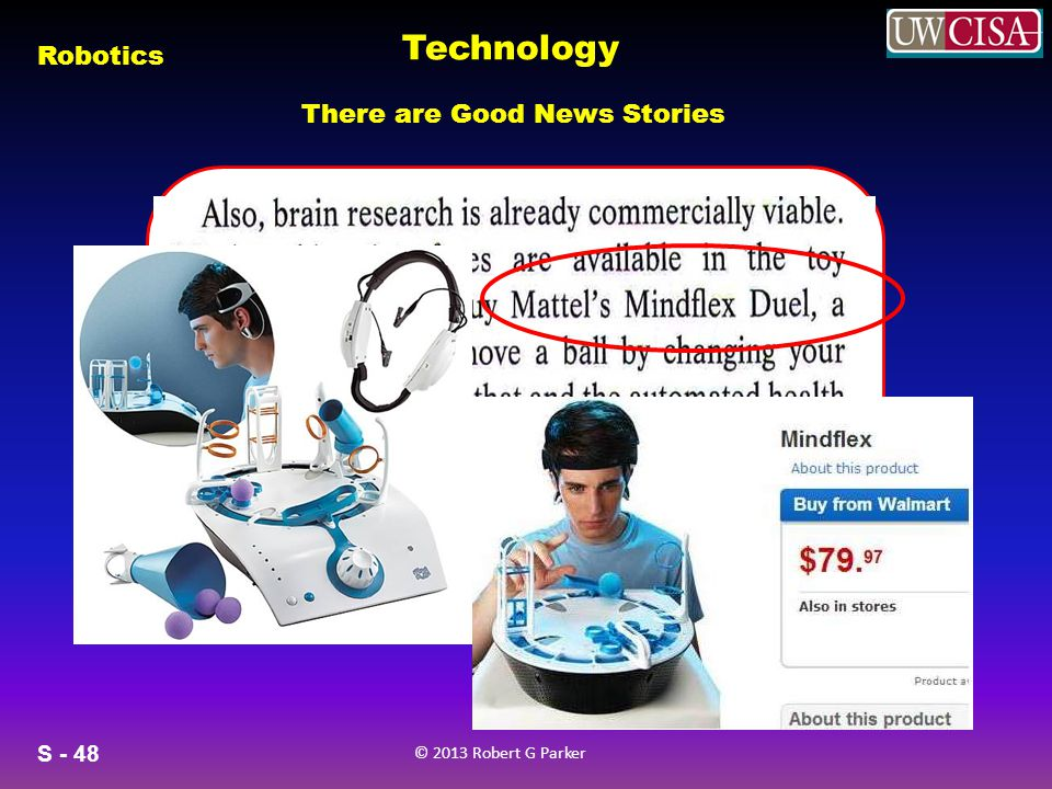 Technology There are Good News Stories Robotic Mind Control