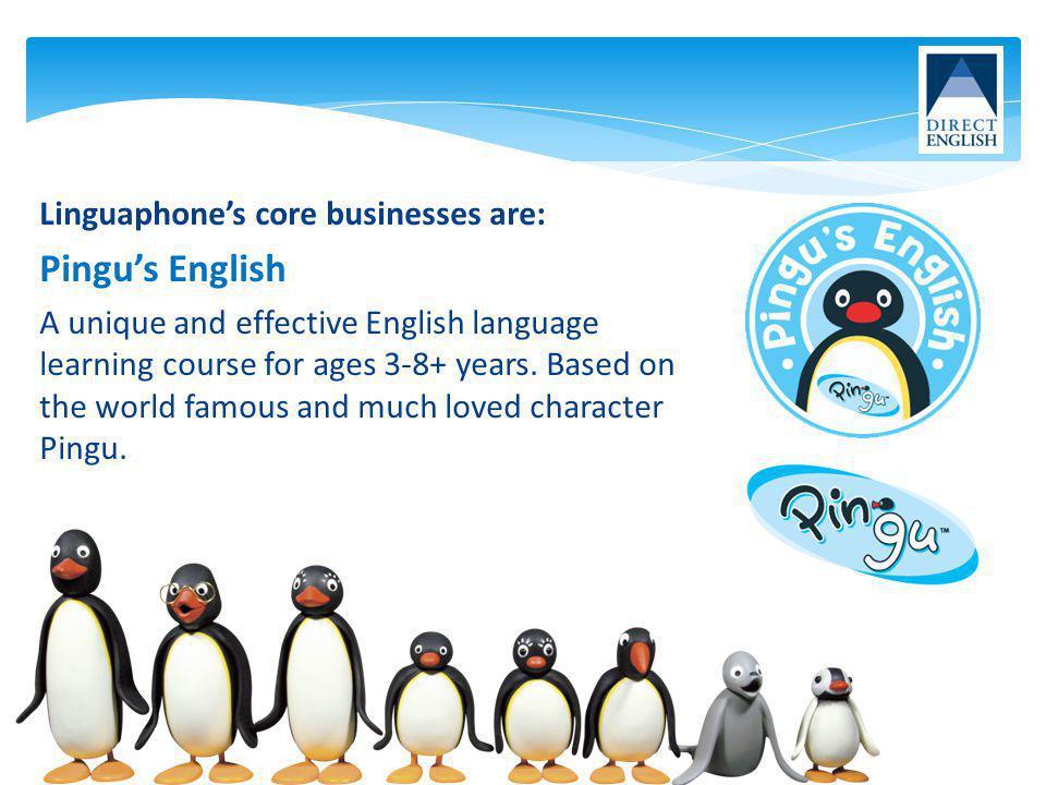 Pingu's English Linguaphone's core businesses are: