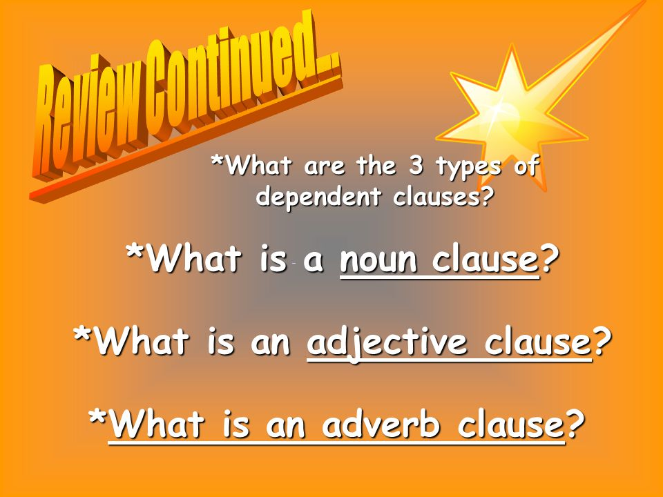 *What is an adjective clause