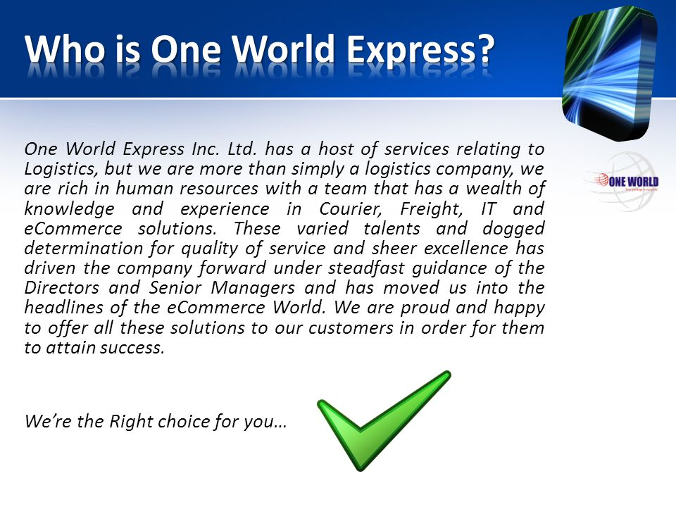Who is One World Express