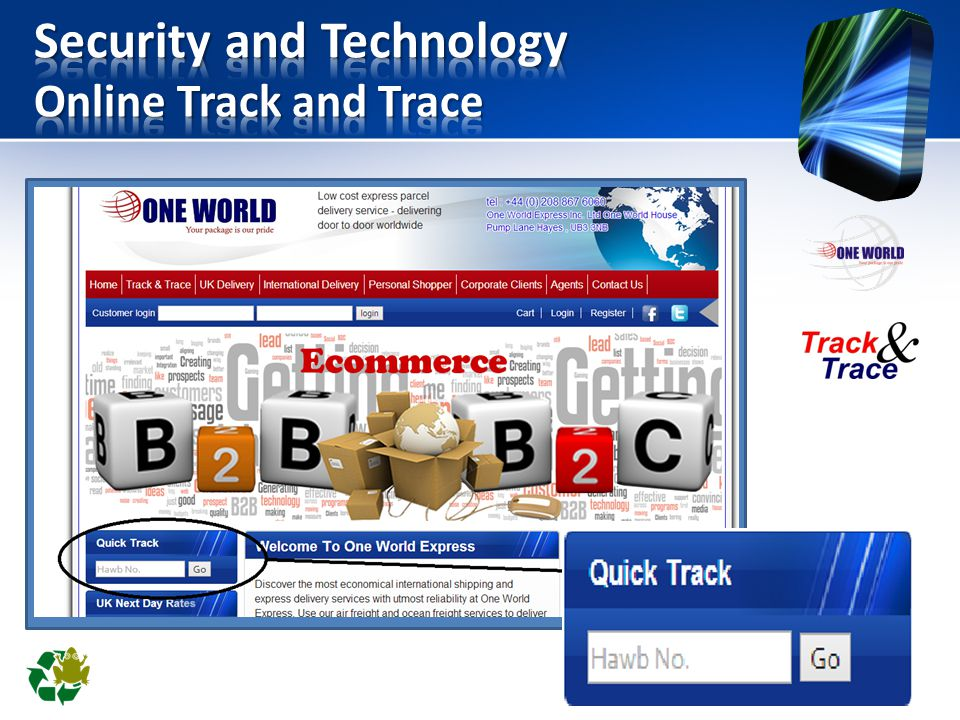 Security and Technology Online Track and Trace