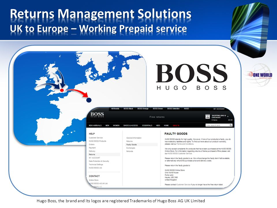 Returns Management Solutions UK to Europe – Working Prepaid service