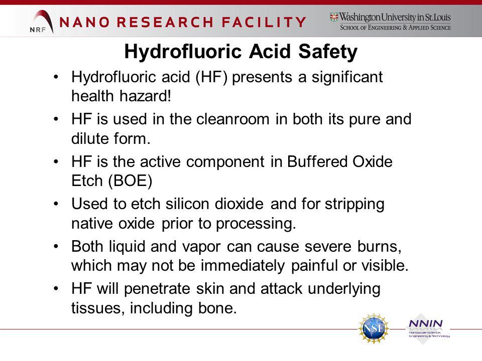 Hydrofluoric Acid Safety