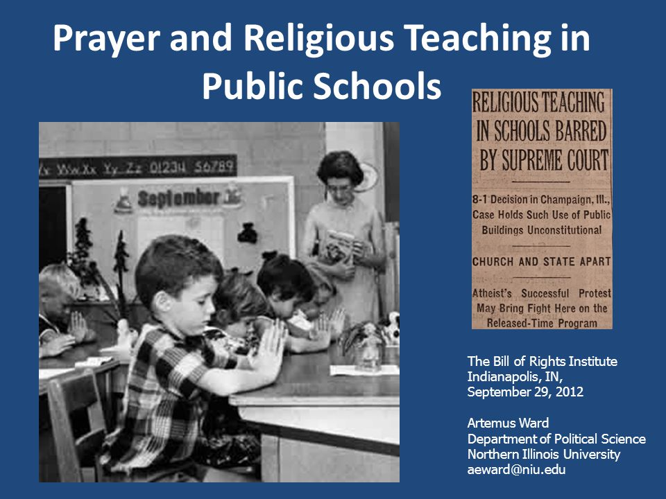 Prayer and Religious Teaching in Public Schools