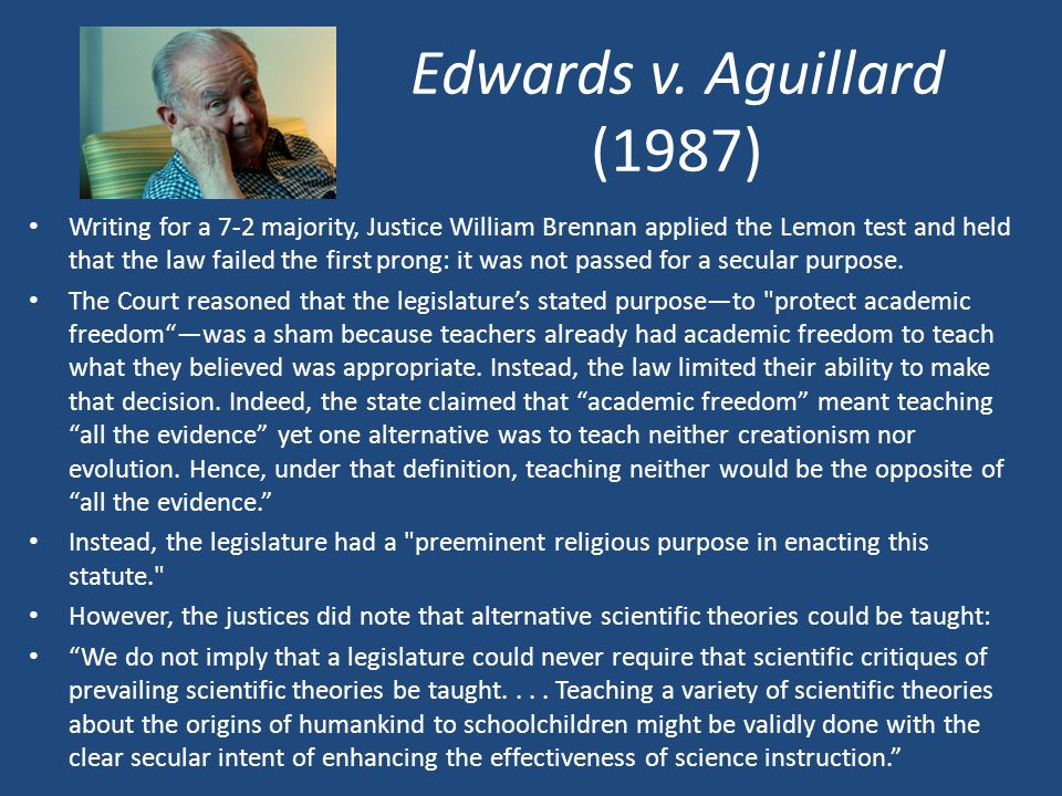 Edwards v. Aguillard (1987)