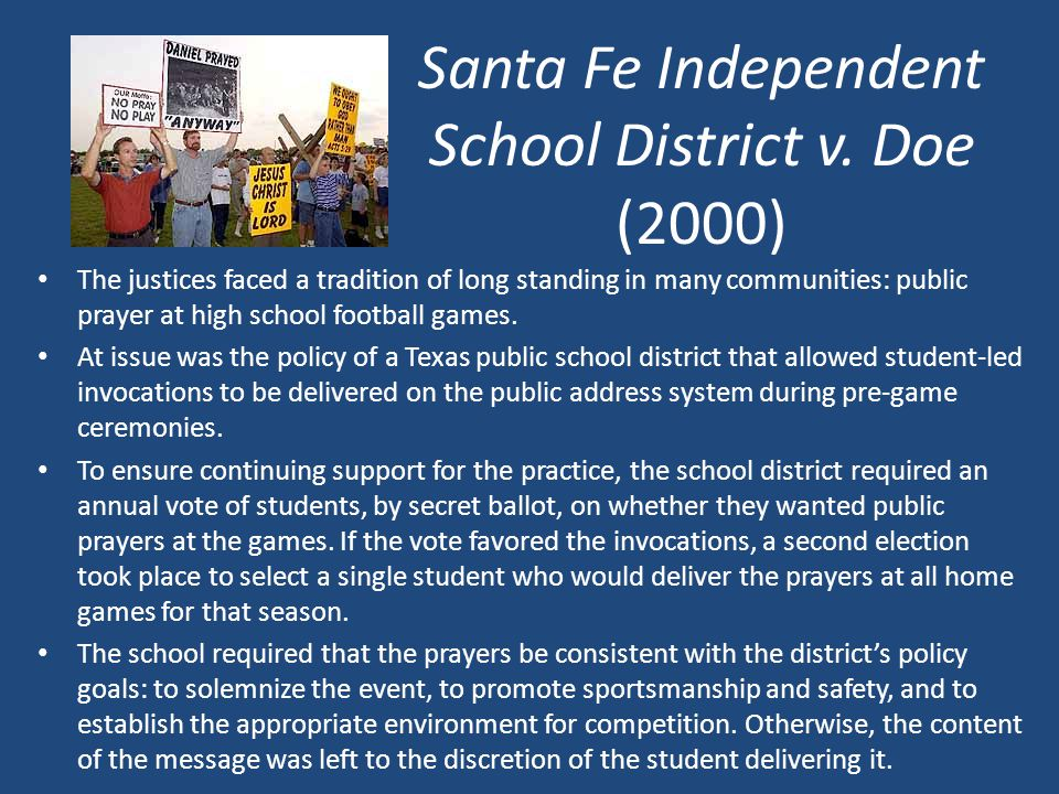 Santa Fe Independent School District v. Doe (2000)