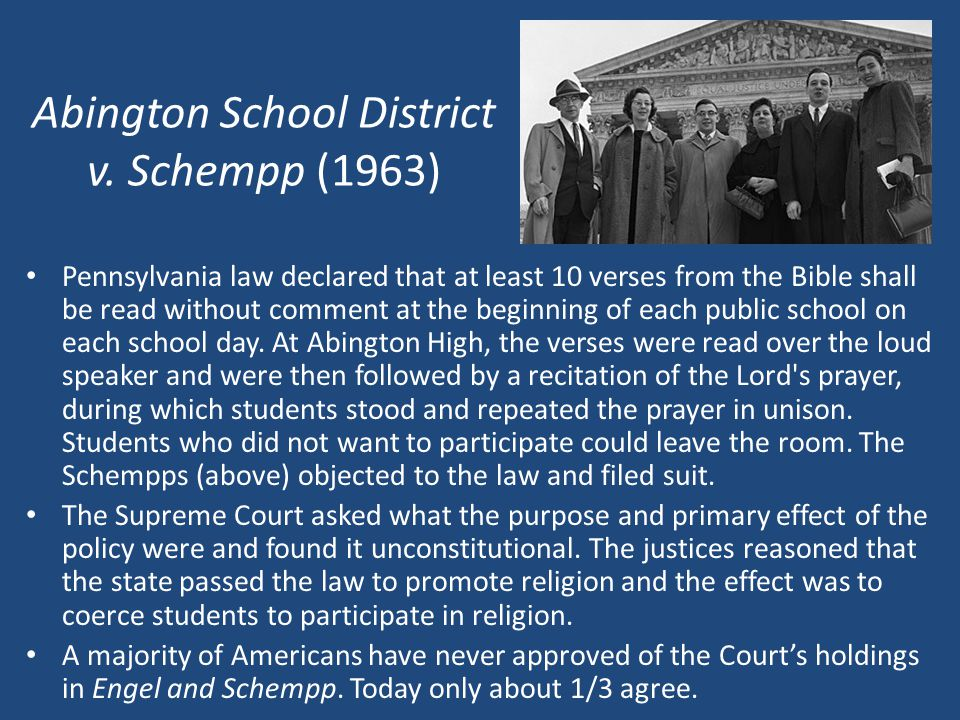 Abington School District v. Schempp (1963)