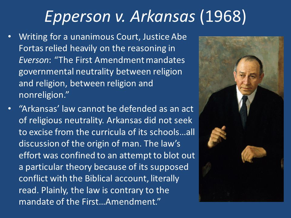 Epperson v. Arkansas (1968)