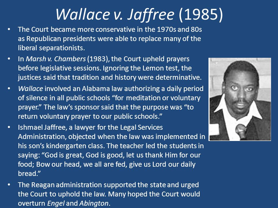 Wallace v. Jaffree (1985)