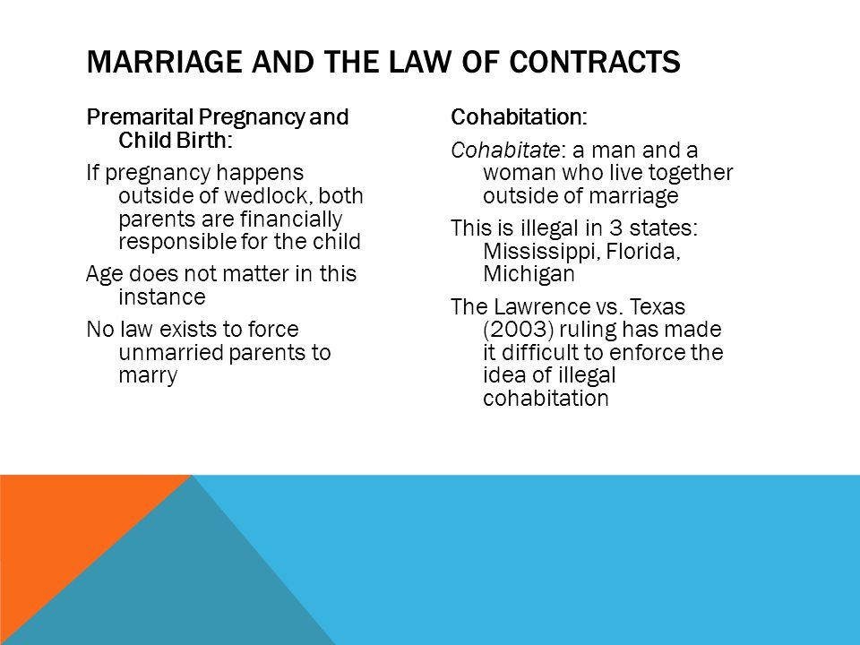Marriage and the law of contracts