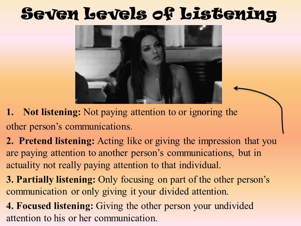 Seven Levels of Listening