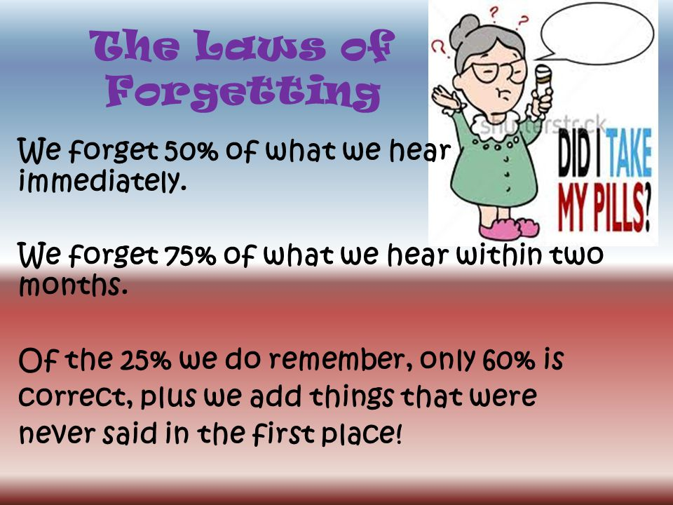 The Laws of Forgetting