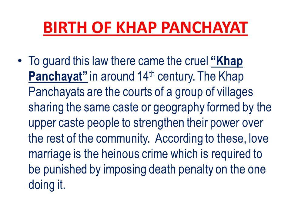 BIRTH OF KHAP PANCHAYAT