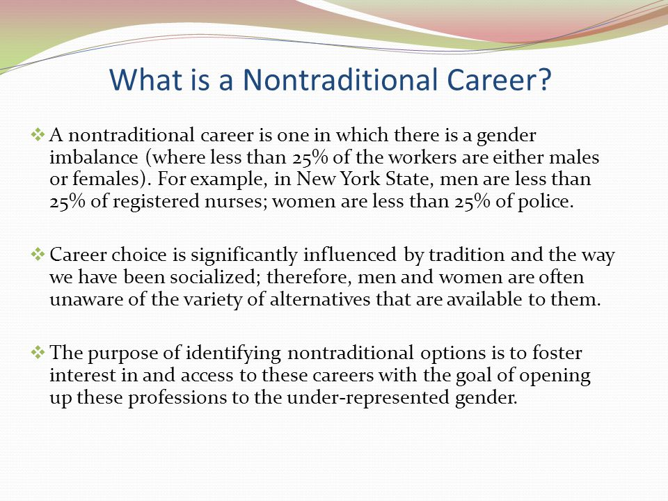 What is a Nontraditional Career