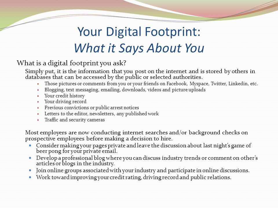 Your Digital Footprint: What it Says About You