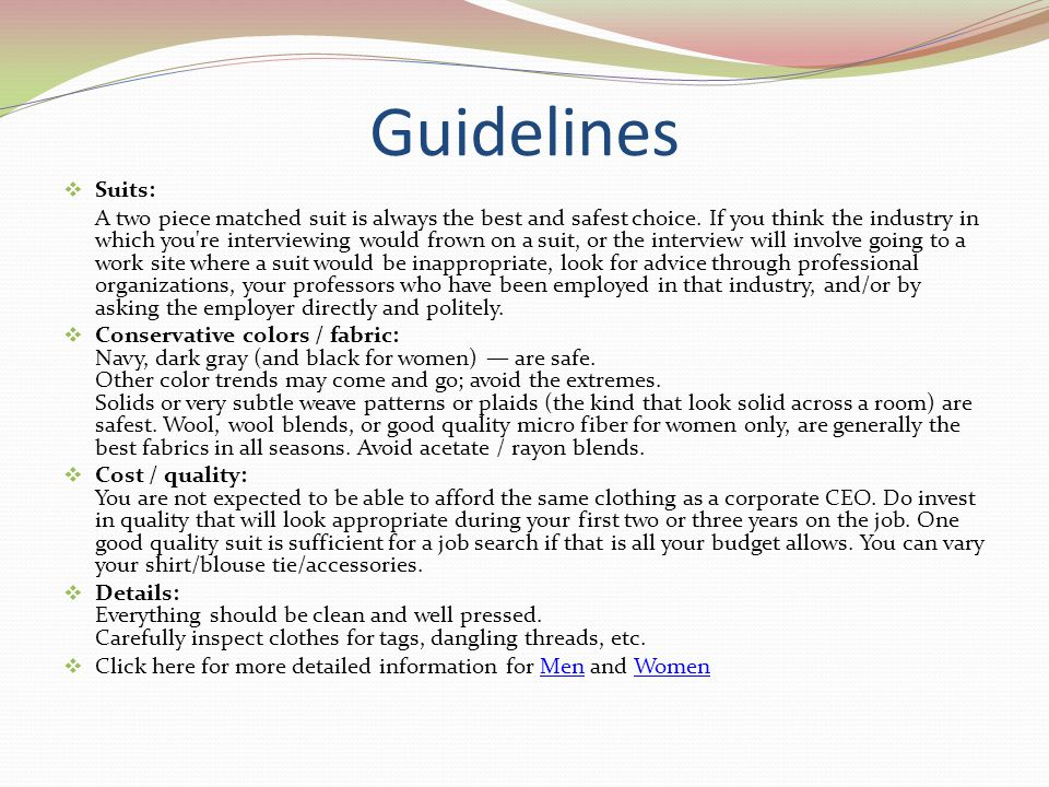 Guidelines Suits: