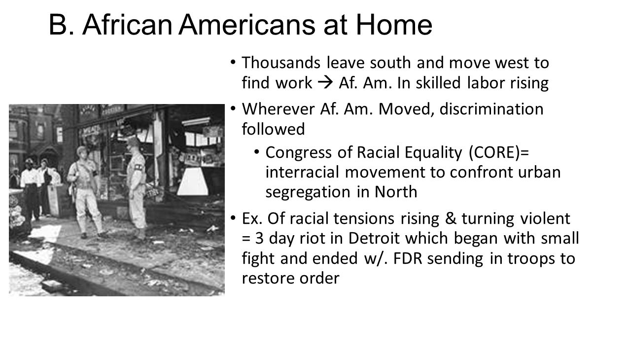 B. African Americans at Home