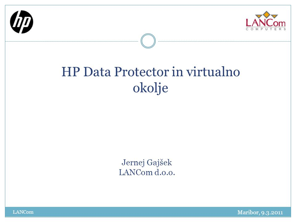 HP Data Protector in virtualno okolje