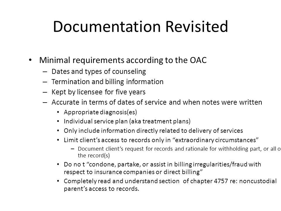 Documentation Revisited