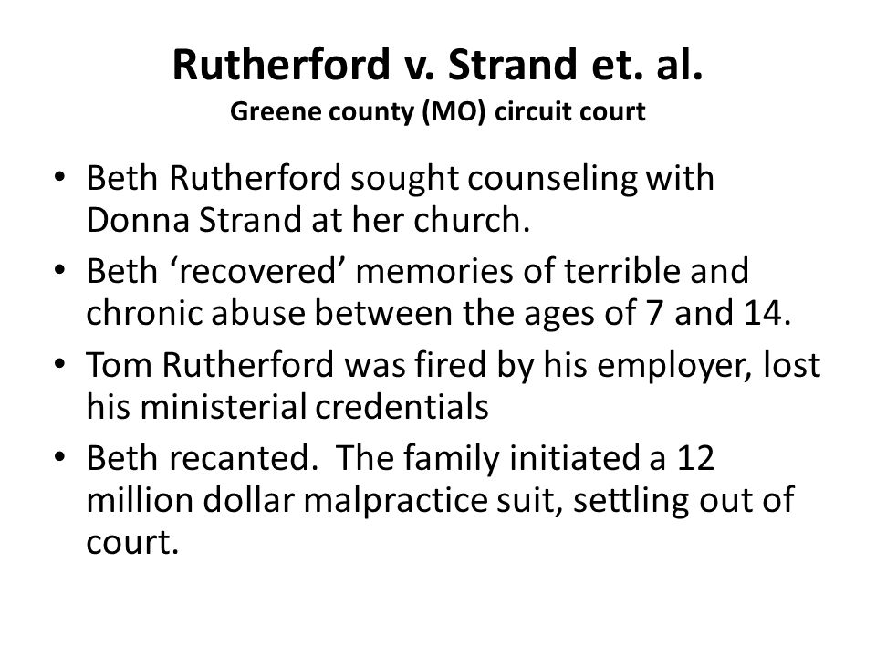 Rutherford v. Strand et. al. Greene county (MO) circuit court