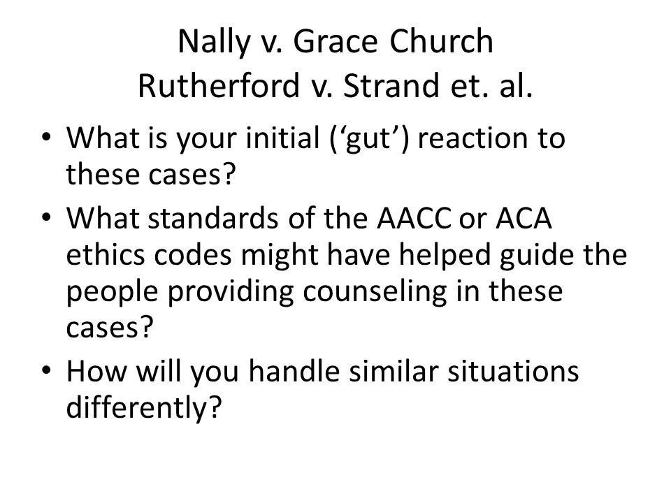 Nally v. Grace Church Rutherford v. Strand et. al.