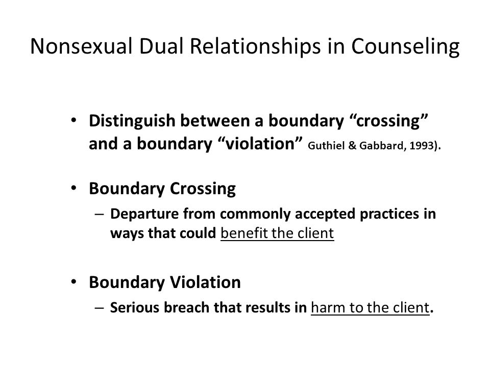 Nonsexual Dual Relationships in Counseling