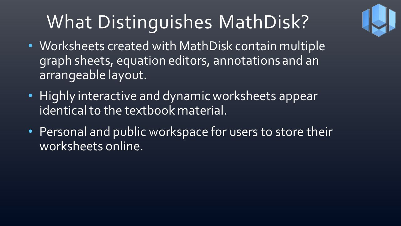 What Distinguishes MathDisk
