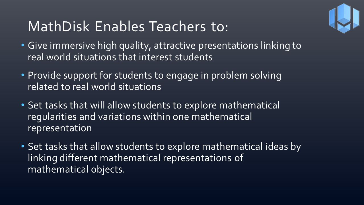 MathDisk Enables Teachers to: