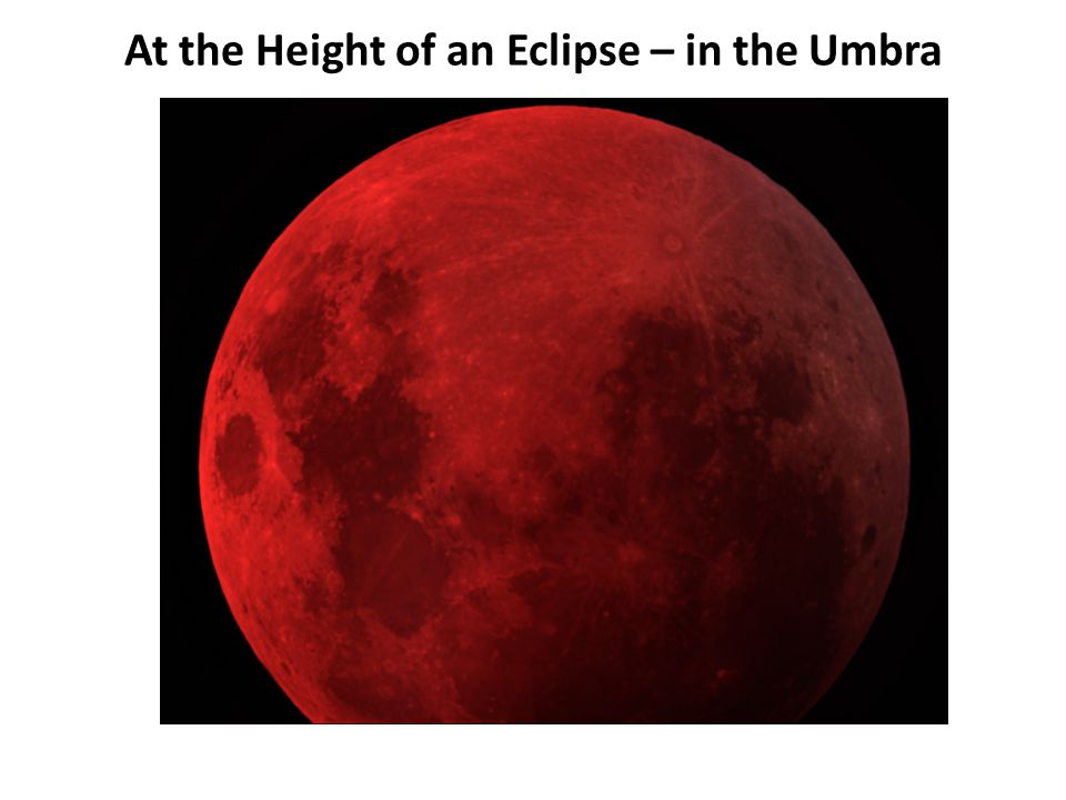 At the Height of an Eclipse – in the Umbra