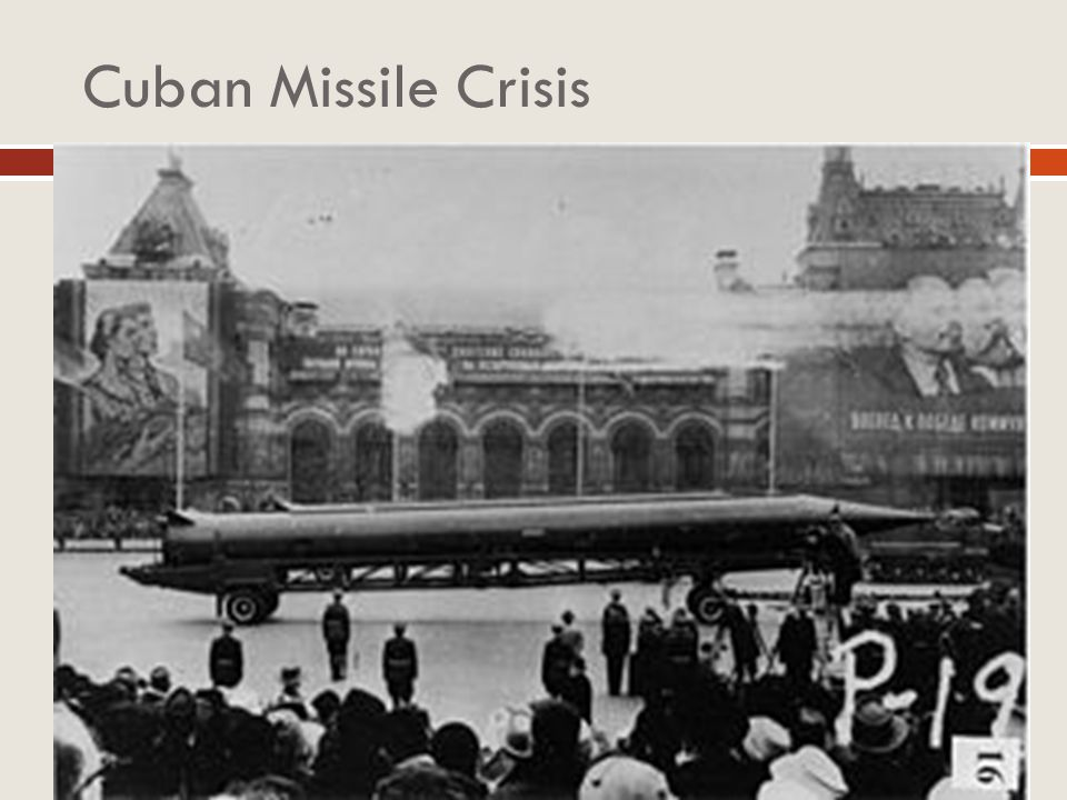 Cuban Missile Crisis US actions at the Bay of Pigs and Berlin Crisis encouraged USSR to become more aggressive.