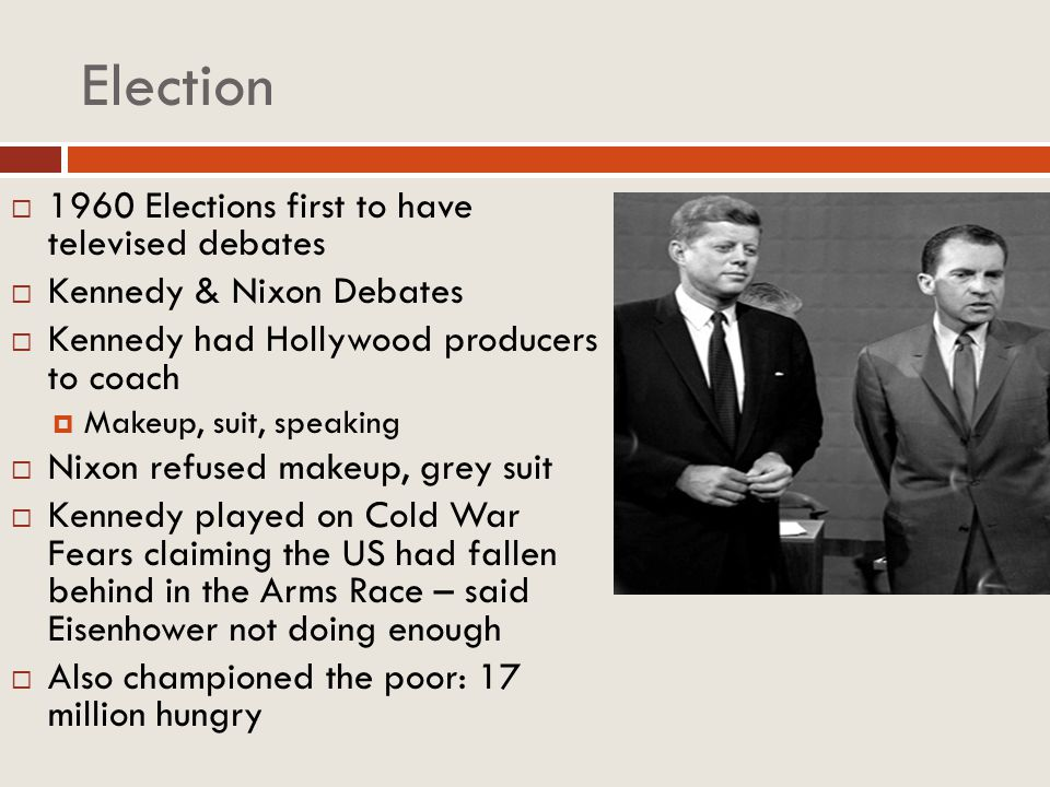 Election 1960 Elections first to have televised debates