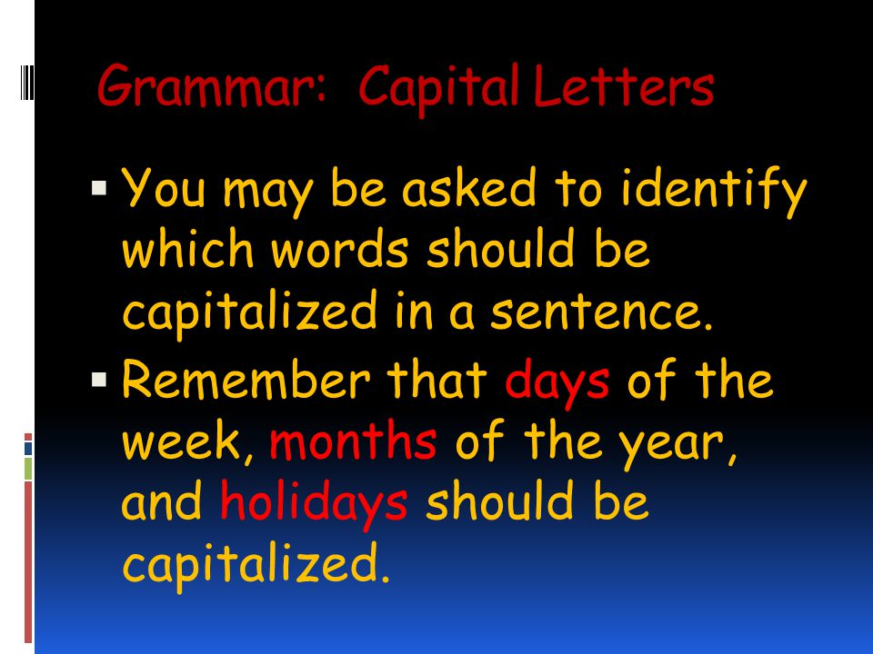 Grammar: Capital Letters