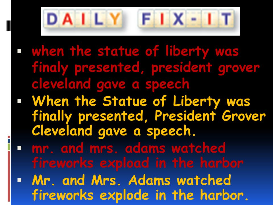 when the statue of liberty was finaly presented, president grover cleveland gave a speech