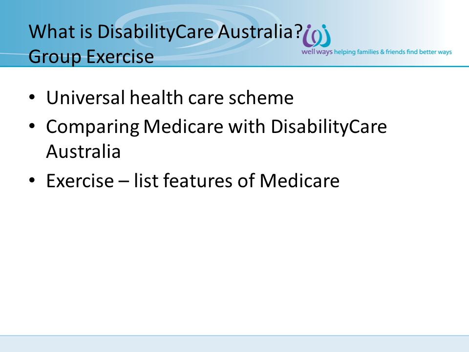 What is DisabilityCare Australia Group Exercise